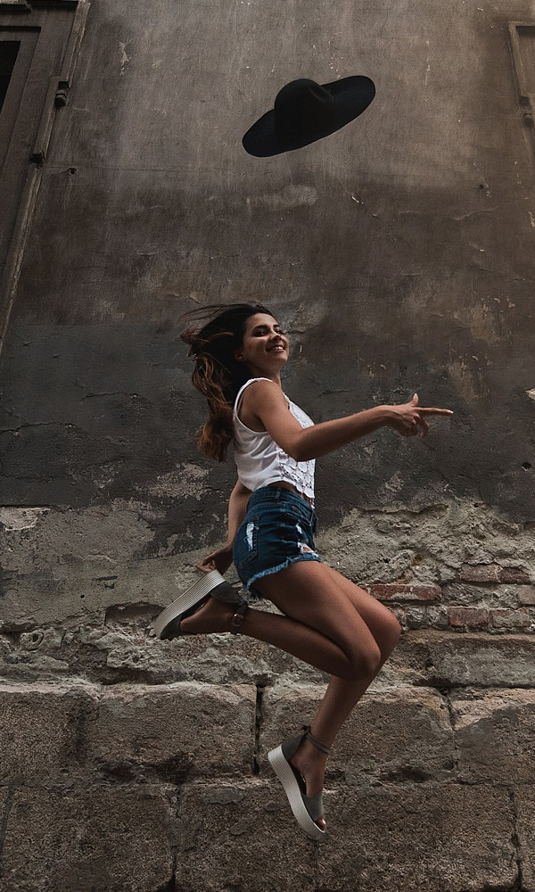 A Jumping Girl